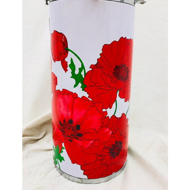 Vintage Red & White Floral Thermos Carafe For Sale In Raleigh - Image 6 of 12