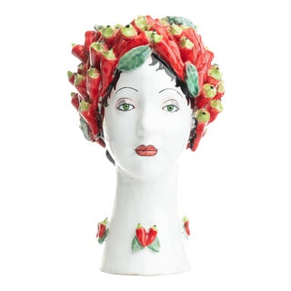 Sculpture with Peppers, Ceramiche D'arte Dolfi For Sale