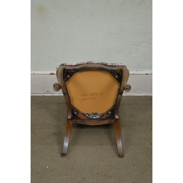 Blue Thomasville Vintage French Louis XV Style Set of 6 Dining Chairs For Sale - Image 8 of 12