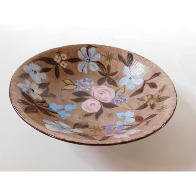 Hand-Painted Swedish Floral Porcelain Bowl For Sale In New York - Image 6 of 13