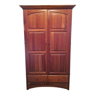 Harden Furniture Cherry Wood Armoire For Sale