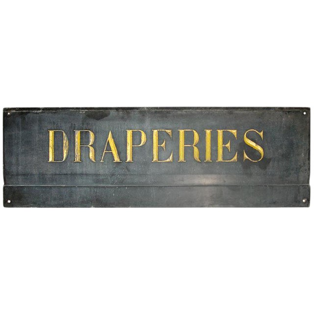 19th Century French Textile Shop Sign in Gilded Black Slate - Image 1 of 5