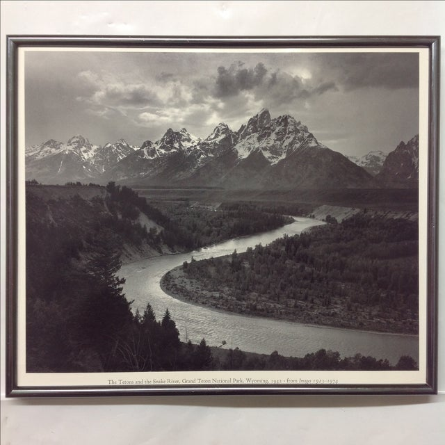 """Snake River & the Tetons"", Ansel Adams Print - Image 2 of 3"