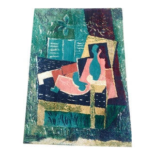 1970s Vintage Pablo Picasso Modern Wool Rug- 4′5″ × 6′8″ For Sale