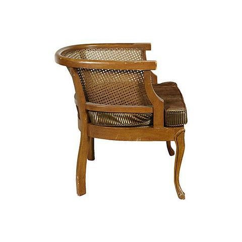 1960s Caned Barrel Chair - Image 3 of 5