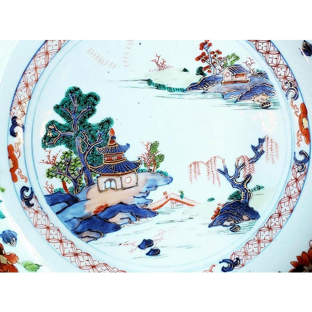 Chinese Export Porcelain Imari and Verte Saucer Dish For Sale - Image 9 of 12