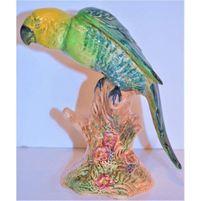 Ceramic Vintage Beswick English Porcelain Yellow Headed Parrot Figurine For Sale - Image 7 of 7