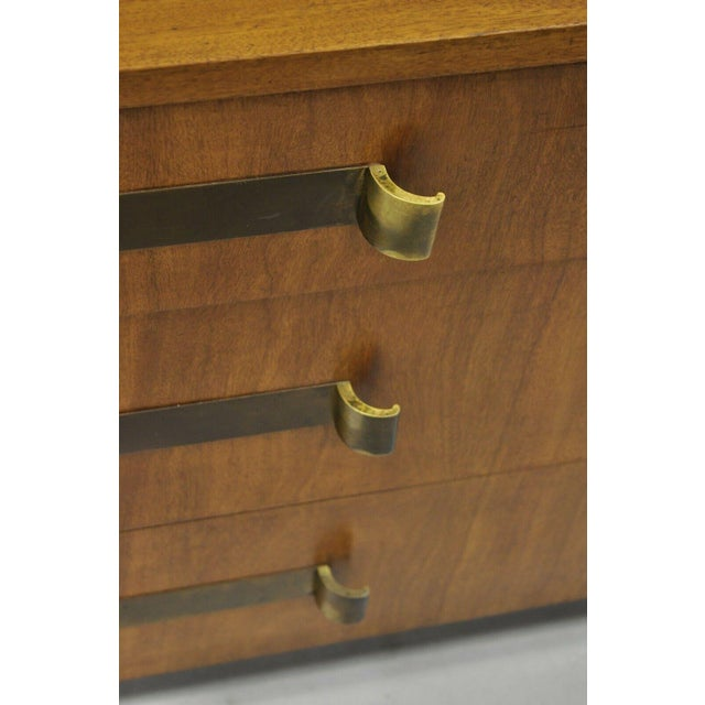 John Stuart John Stuart Mid Century Modern Art Deco Birch Dresser For Sale - Image 4 of 13