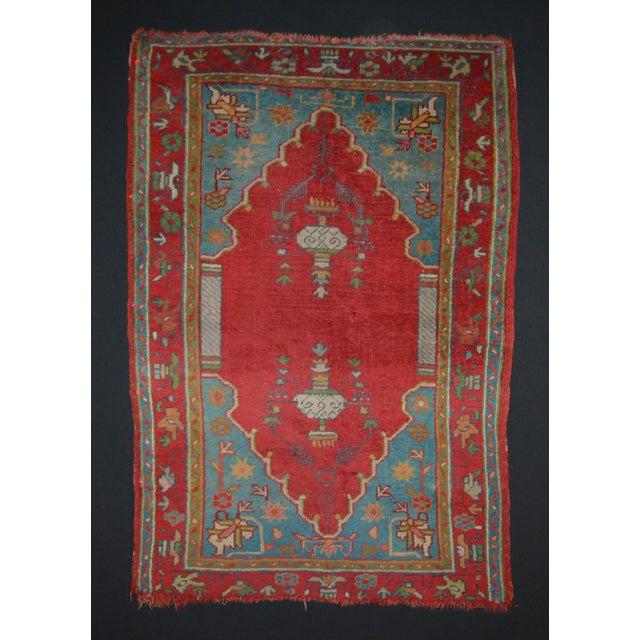 """Antique Turkish Oushak Rug - 3'7"""" x 5'6"""" - Image 2 of 7"""