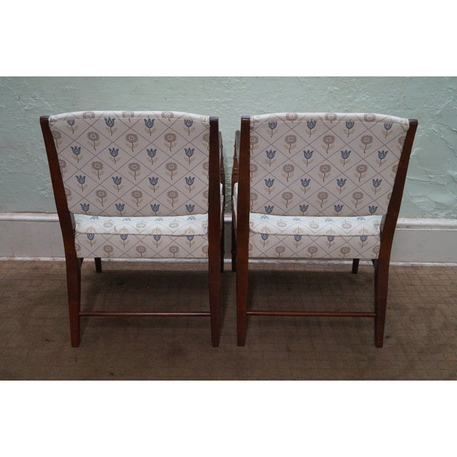 Solid Mahogany Faux Bamboo Arm Chairs - A Pair - Image 4 of 10