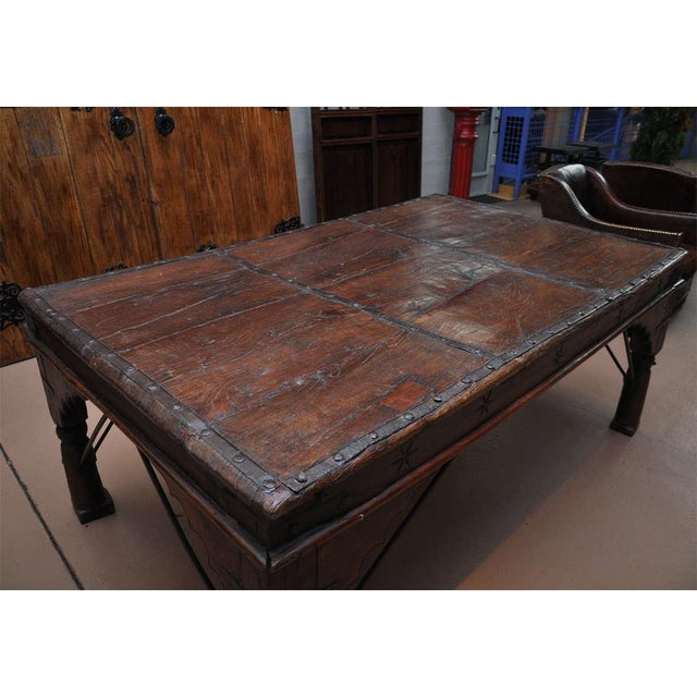 Indian Wood and Iron Table - Image 2 of 10