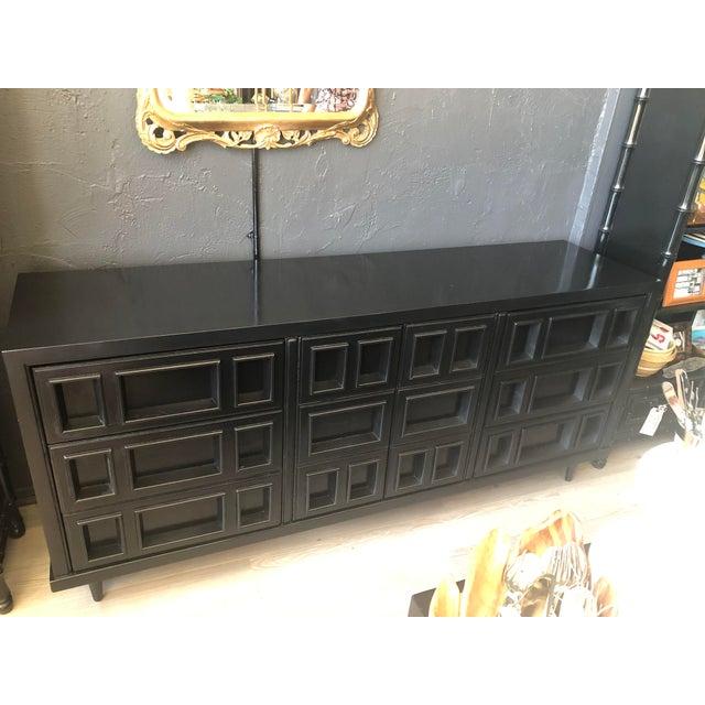 Mid-Century Black Nine Drawer Dresser For Sale - Image 13 of 13