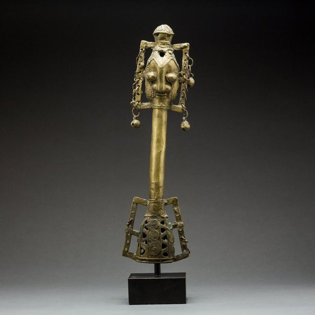 Yoruba Bronze Osugbo Staff For Sale - Image 4 of 4