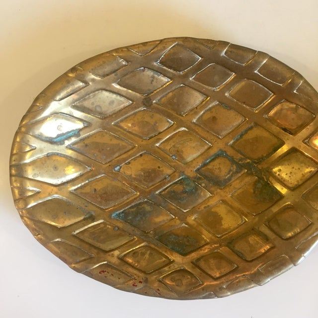 Brass Pineapple Catch-all. Perfect for change dish or catch-all in entryway. Tarnishing and patina consistent with age.