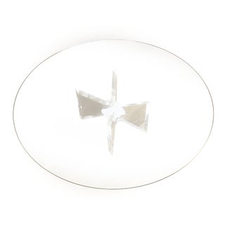Mid Century Modern Lucite and Glass Butterfly Bow Tie Coffee Table For Sale