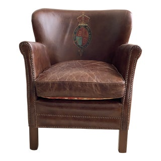 Timothy Oulton Painted Leather Club Chair For Sale