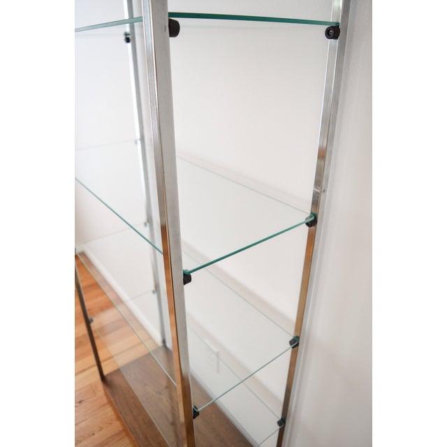 Mid-Century Glass Etagere Shelving Unit - Image 9 of 9