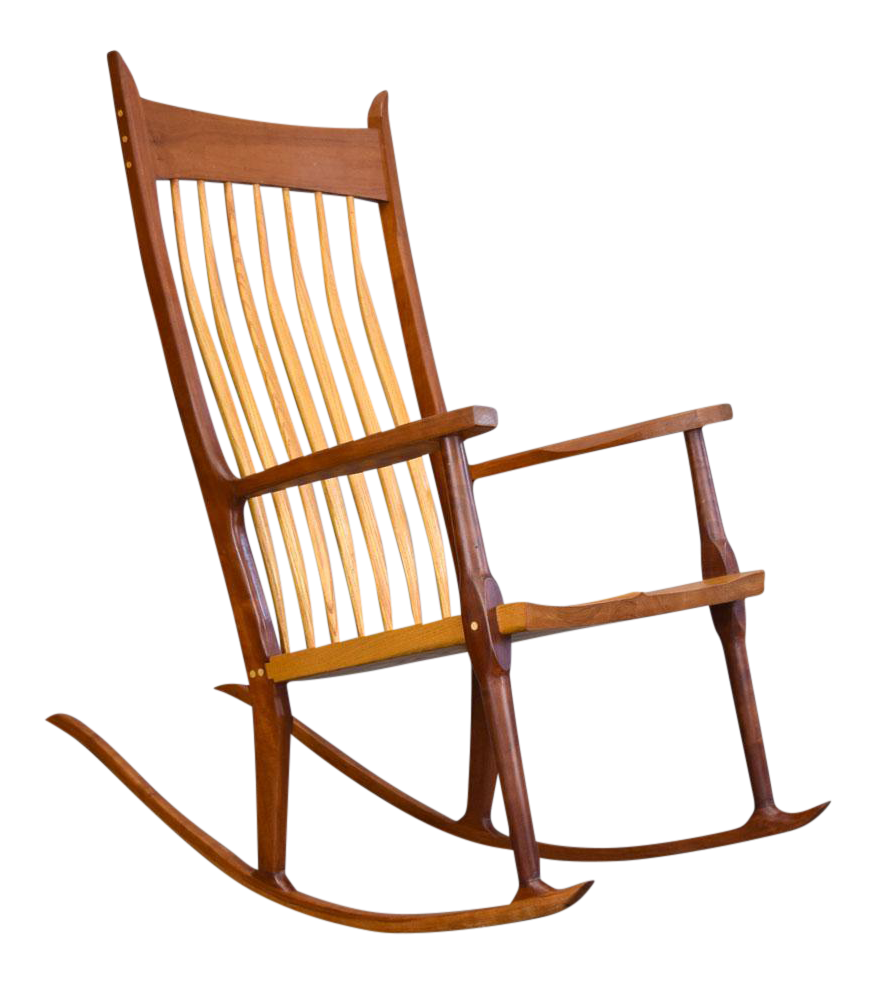 Extraordinary Bench Made Cherry Rocking Chair, Sam Maloof Style For Sale