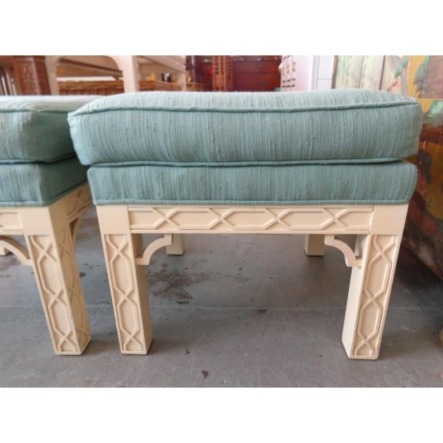 Chippendale Style Fretwork Benches - A Pair - Image 2 of 8