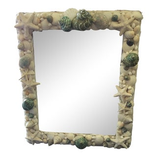 Vintage Rectangular Shell Mirror