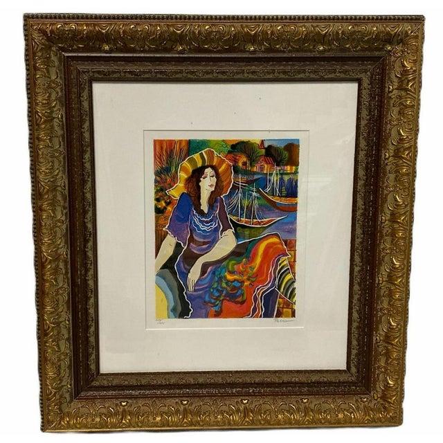 Vintage Signed Patricia Govensky Serigraph in Color For Sale - Image 4 of 4