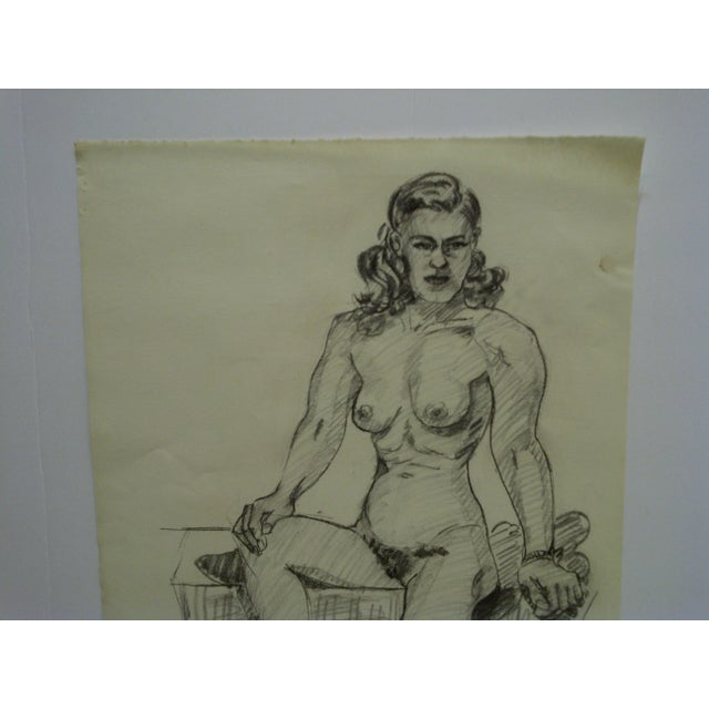 This is an Original Drawing / Sketch on Paper that is titled Nude With Pretty Shoe by Tom Sturges Jr. and is dated...