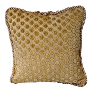 "Italian Pierre d'Argent Maison ""Savoia Velvet"" Designer Accent Pillow For Sale"