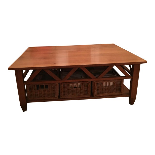 All Ethan Allen Coffee Tables: Solid Wood Ethan Allen Coffee Table
