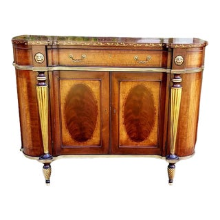 Pair of Waldorf Astoria Hotel's Ej Victor Mahogany Sideboards For Sale