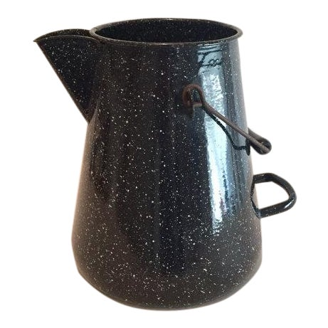 WW2 Navy Black Speckled Enamel Coffee Pot - Image 1 of 6