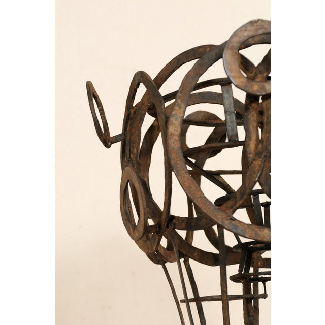 Iron Tall French Sculptural Iron Abstract Art Piece, Circa 1930s-1940s For Sale - Image 7 of 12