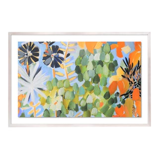 St Tropez 1 by Lulu DK in White Wash Framed Paper, Small Art Print For Sale