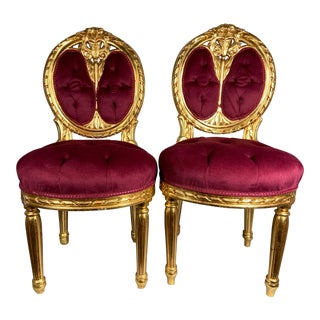 Antique French Louis XVI Style Chairs- a Pair For Sale