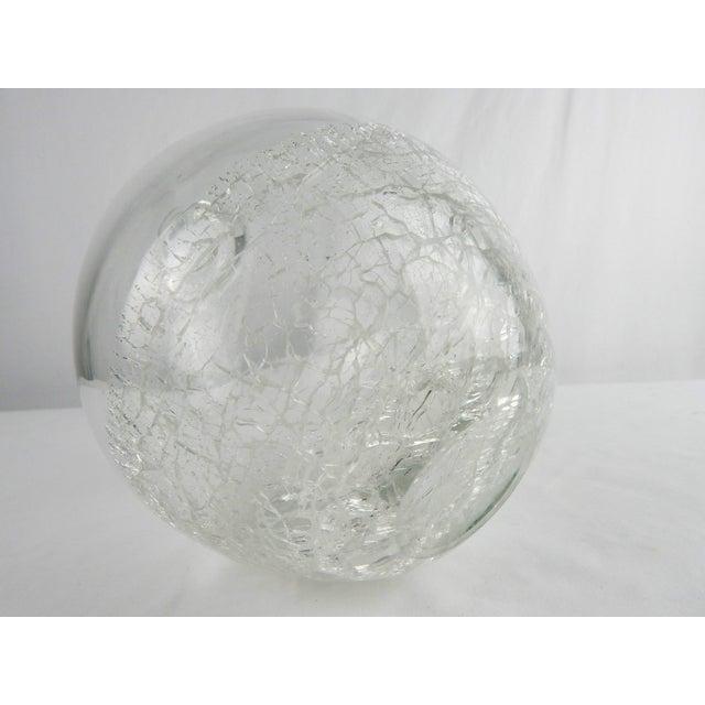 Crackle Art Glass Vase For Sale In Orlando - Image 6 of 7
