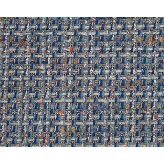 Hinson for the House of Scalamandre Confetti Fabric in Blue For Sale