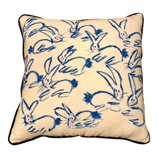 "Contemporary Bunny Accent Throw Pillow - 20"" × 20ʺ For Sale"