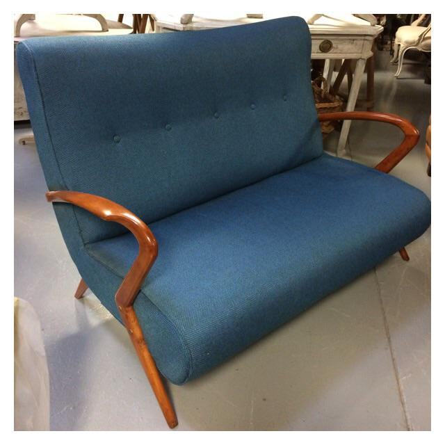 French Mid Century Modern Settee - Image 9 of 11