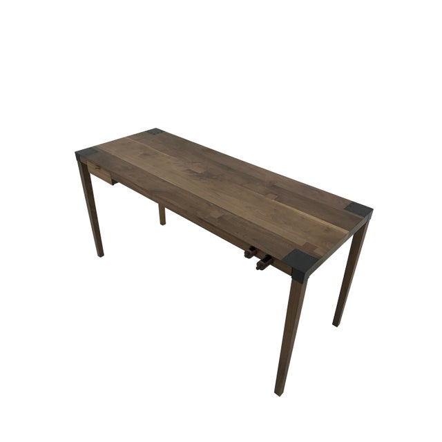Walnut Writer's Desk For Sale In New York - Image 6 of 9
