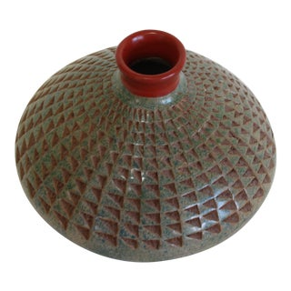 Hand Thrown Pottery Vase For Sale
