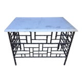 Image of Antique French Wrought Iron Pastry Table For Sale