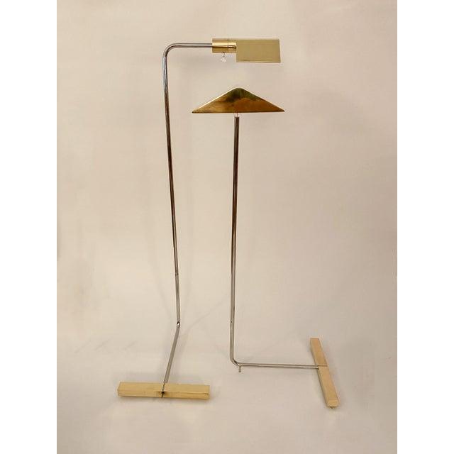 Cedric Hartman Brass / Stainless Steel Height Adjustable / Swivel Floor Lamps - Set of 2 For Sale - Image 13 of 13