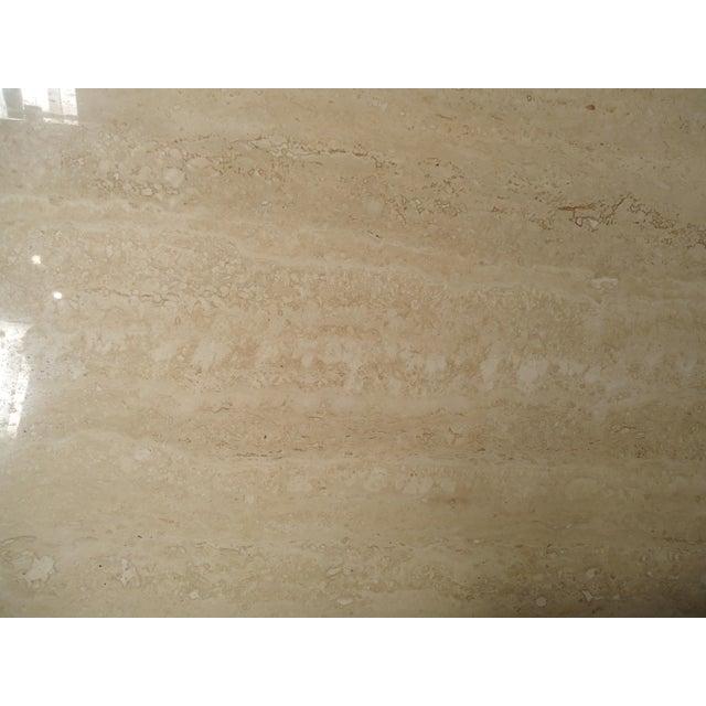White Elegant Travertine Console Table by Artedi For Sale - Image 8 of 9