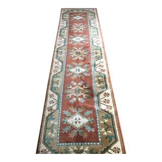 Turkish Milas Wool Runner - 2′8″ × 10′2″ For Sale