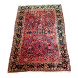 Image of Traditional Persian Sarouk Rug- 3′5″ × 4′11″ For Sale