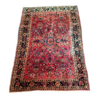 Traditional Persian Sarouk Rug- 3′5″ × 4′11″
