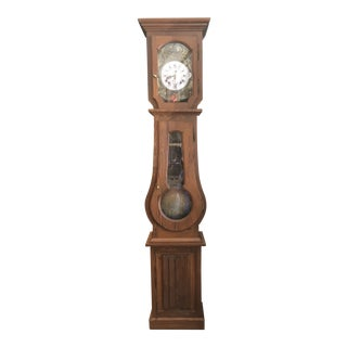 Antique French Morbier Grandfather Clock For Sale