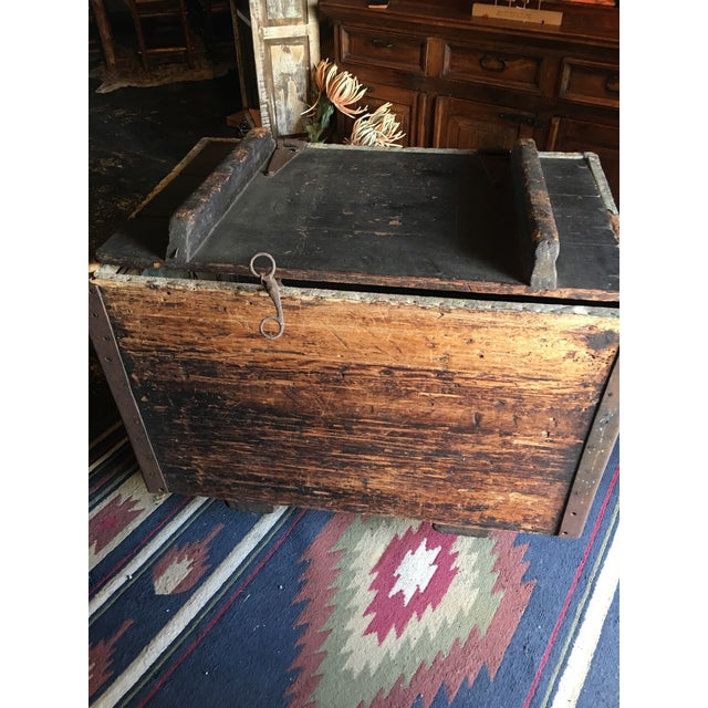 19th Century Antique Zinc Lined Wood Icebox For Sale - Image 5 of 8