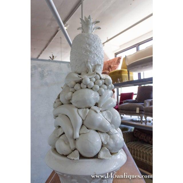 Ceramic Large Spanish White Ceramic Centerpiece For Sale - Image 7 of 8