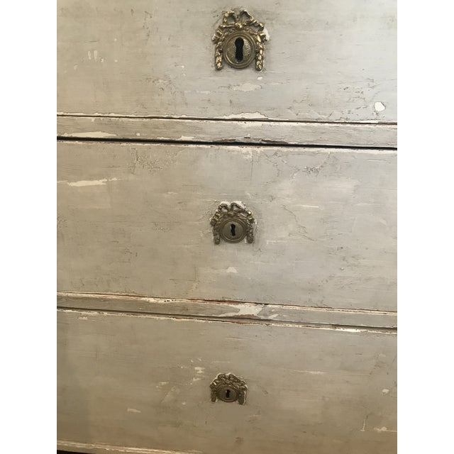 Green Late 20th Century Vintage Gustavian Chest For Sale - Image 8 of 12
