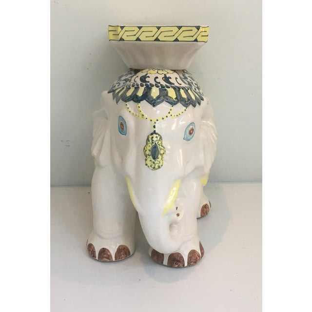 Elephant Garden Stool Side Table For Sale - Image 5 of 7